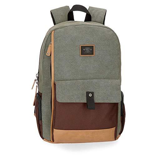 "Pepe Jeans Wildshire Laptop-Rucksack Mehrfarbig 30x45x13 cms Baumwolle 15,6"" 17.55L"