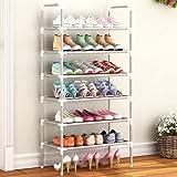 LucaSng Organizador de Zapatero Multicapa, gabinetes de Metal para Zapatos, Muebles de 2/3/4/5/6 Capas, Organizador de estantes para Zapatos, Soporte fácil de Instalar