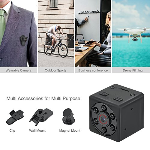 Mini Hidden Spy Camera, EMAL 1080P Home Security Camera Baby Nanny Camera Small Pocket Cam Portable HD Sports DV with Motion Detection & Night Vision for Pet/Office Monitor, Car Surveillance, Outdoor