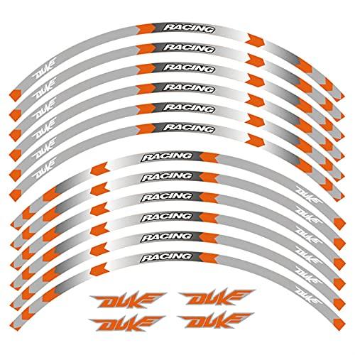 Calcomanías Motos Etiqueta de la rueda de la motocicleta Etiqueta de la motocicleta Pegatina Frente Ruedas traseras Vinilantes Reflectantes reflectantes Pegatinas impermeables Rimas de llanta para Duk