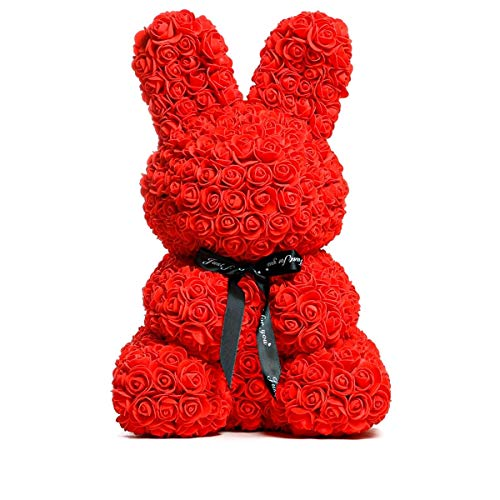 ローズベア イヌ ウサギ 造花 ブライダル テディベア ぬいぐるみ 特大 大きい プレゼント 女性 誕生日 フラワーアレンジメント バラ 薔薇 クマ ぬいぐるみ電報 祝電 結婚式 お祝い電報 レッド