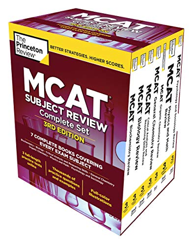 Compare Textbook Prices for The Princeton Review MCAT Subject Review Complete Box Set, : 7 Complete Books + 3 Online Practice Tests Graduate School Test Preparation Illustrated Edition ISBN 9780525567837 by The Princeton Review