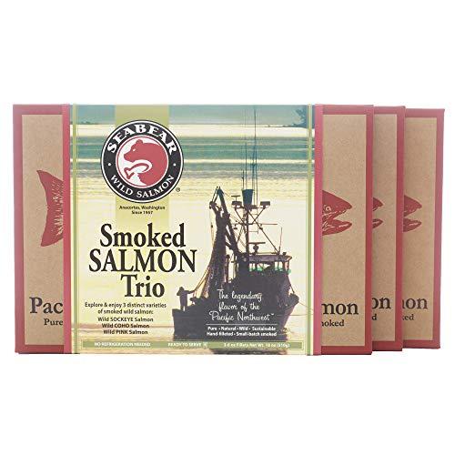 SeaBear - Smoked Salmon Trio - 18oz Box