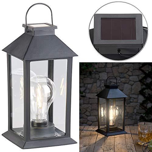 Lunartec Gartenlaterne: Solar-Laterne mit LED-Glühbirne, Dämmerungs-Sensor & Akku, 5 lm, IP44 (LED Solar Leuchte)