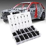 Lot de 240 rivets de voiture en plastique, 12 tailles de vis à rivets, panneau clips, pour voiture, boue, avec boîte en plastique