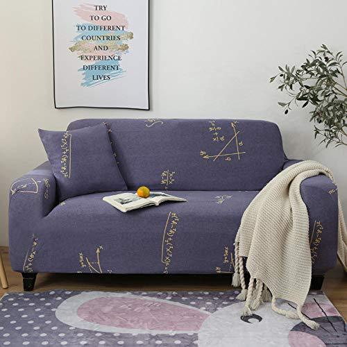 Funda de sofá de 3 Plazas Funda Elástica para Sofá Poliéster Suave Sofá Funda sofá Antideslizante Protector Cubierta de Muebles Elástica Patrón Digital Azul Funda de sofá