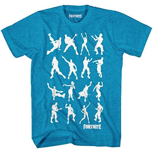 Fortnite Big Boys Dance Dance Emote Fornite Shirt (Turquoise Heather, Medium 7/8)