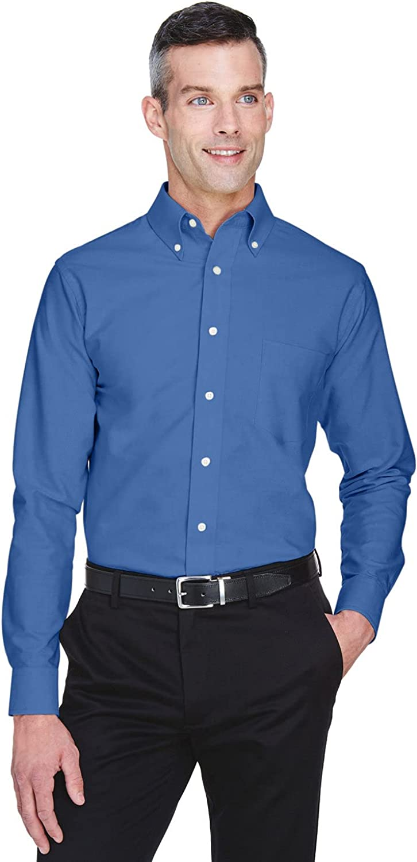 UltraClub Men's Tall Wrinkle-Free Long Sleeve Oxford Shirt