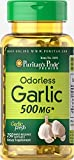 Puritan's Pride Odorless Garlic 500 Mg, 250 Softgels by Puritan's Pride, 250 Count