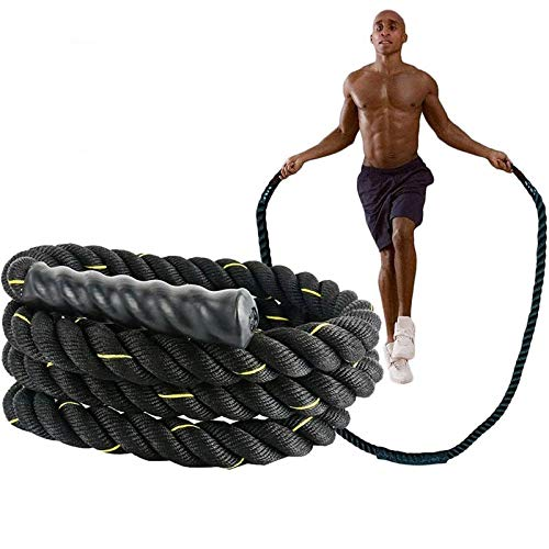 Haloday Heavy Jump Rope Workout Battle ropes – Weighted Jump Rope for Men Women Home Gyms Exercise Training Cardio Fitness