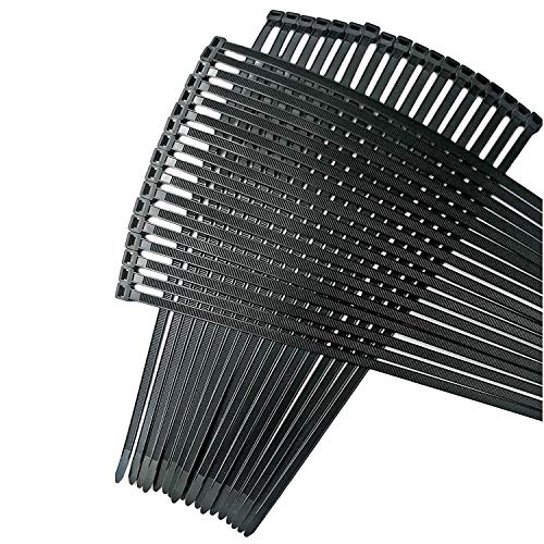Strong Ties Brand Premium Black Nylon Cable Ties, 18 Inches Long x 1.9 mm Thick x .35 Inches Wide with 175 Pounds of Tensile Strength, 100 Pieces per Value Pack, Indoor Outdoor UV Resistant.