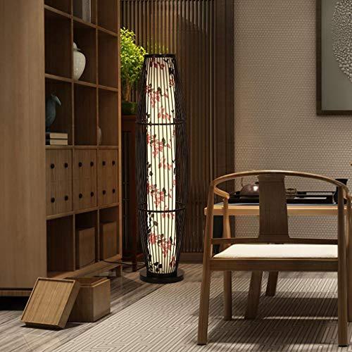 EIU staande lamp landelijke stijl bamboe weven hoge lichtdoorlatendheid hoge staande lamp, woonkamer studie slaapkamer decoratie lamp M20-03-12