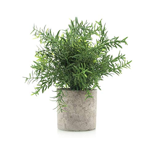 Velener Mini Potted Plastic Fake Green Plant for Home Decor Bamboo Leaf