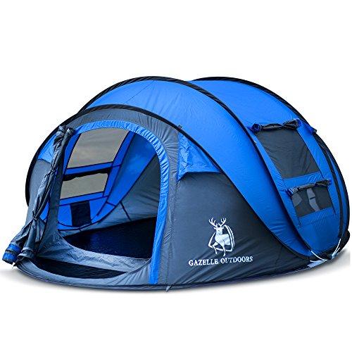 WENTAO Camping Tent Pop Up Snel Start Wandelen Grote Instant Regentent Opvouwbaar 4-5 Kunstmatige Outdoor Sport Camping Wandelen Strand