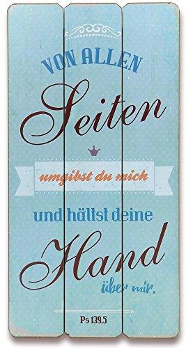 Christliche Geschenkideen °° Wandbild im Vintage-Stil Von Allen Seiten umgibst du Mich.