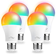 Smart Light Bulbs Work with Alexa Google Home, WiFi RGB Color Changing Light Bulb, App Remote Control, No Hub Required, 9W...
