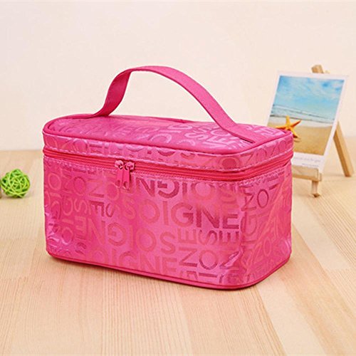 Wmshpeds Lettre de femmes Sac cosmétiques Quartet Mode Voyage Stockage Portable Pack 2 Trousse de toilette