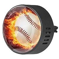 2pcsアロマセラピーディフューザーカーエッセンシャルオイルディフューザーベントクリップファイヤー野球