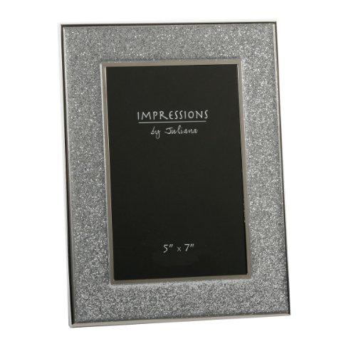 Sparkly Silver Glitter Impressions Picture Photo Frame 13cm x 18cm