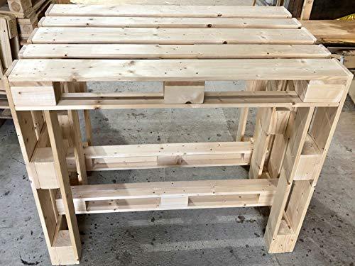 Palettenmöbel ~ großer Stehtisch aus Vollholz Möbelpaletten ~ Plattenstehtsich