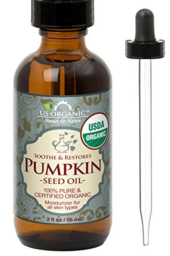 US Organic Pumpkin Seed Oil, USDA Certified Organic, Pure, Natural, Cold Pressed Virgin, Unrefined in Amber Glass Bottle w/Glass Eyedropper (Small (2 oz, 56 ml))