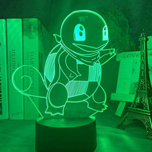 YOUPING 3D Illusion Lamp Led Night Light Zenigame Figure for Kid Bedroom Decoration Colorful Game Go Squirt Children s Sleep Lamp Children Room Decoration