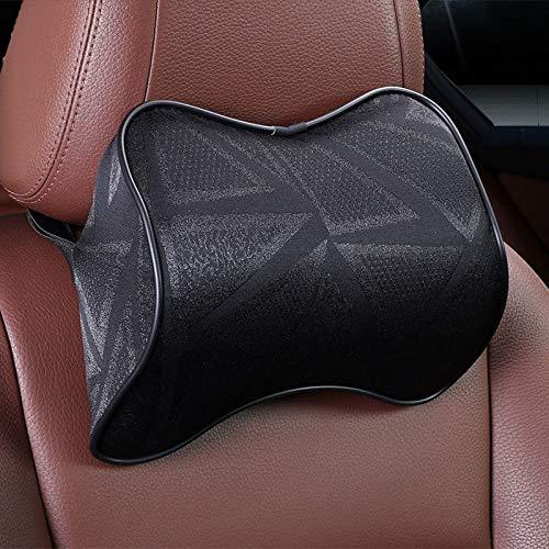Almohada de coche de espuma de memoria almohada de cuello cintura trasera asiento asiento asiento almohada apoyo coche accesorios interior