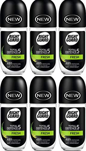 Right Guard Total Defence 5 frische Anti-Transpirant Roll On, 50 ml, 6 Stück