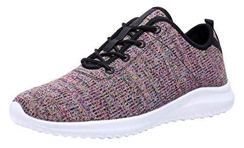YILAN Women's Fashion Sneakers Breathable Sport Shoes (11, Multicoloured)
