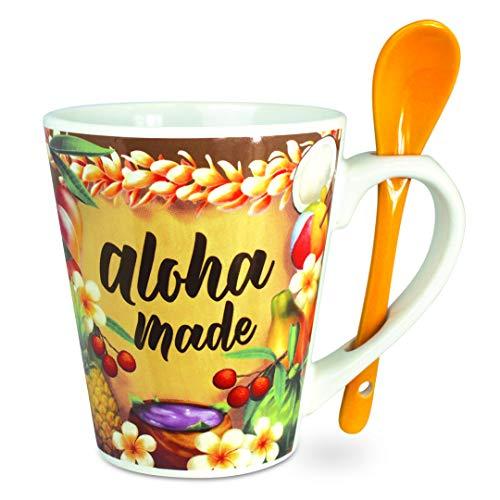 Aloha Made Hawaii-Kaffeetasse mit Löffel, 340 ml