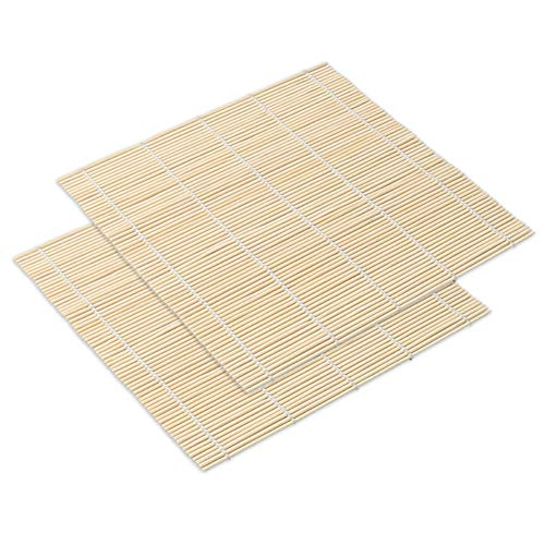 YMKT Kit DE FABRICACIÓN de Sushi Herramienta para Hacer Esteras de Sushi de Bambú Alfombrillas para Enrollar Sushi Arroz Paleta Esparcidor de Arroz Onigiri Kit de Balanceo Kit de Bambú