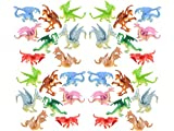 """HOWBOUTDIS Dragon Figurines – 2"""" tall-24 pack –Assorted Colors and Designs- Party Favors - Cake Toppers – Holiday Gifts – Ages 3+"""