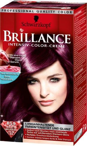 Schwarzkopf Brillance Intensiv-Color-Creme Stufe 3, 859 Violette Wildseide, 1 Stück