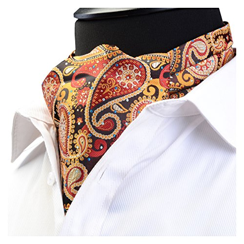Enlision Cravatta da uomo floreale Paisley classica cravatta Ascot Wedding Party tessuta jacquard