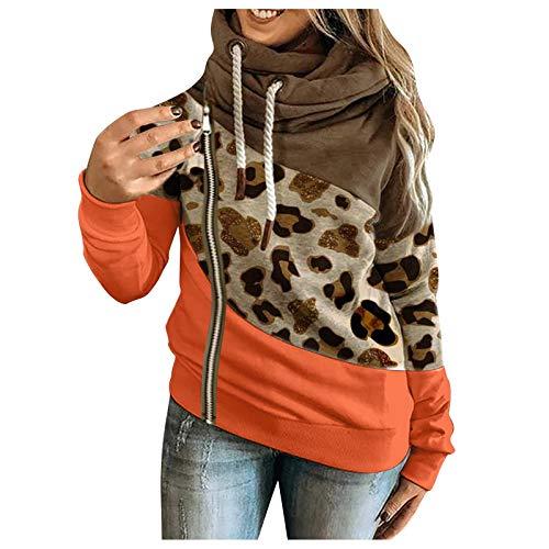 DAY8 Damen Frühjahr-Sommer Bequem Hautfreundlich 3D-gedruckte Sweatshirts Hoodies Tops Star Print Pullvoer Langarm