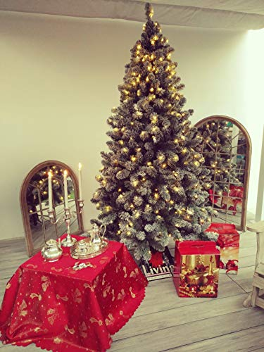 EVERGREEN CLASSICS Albero di Natale Artificiale innevato 210 con luci e Telecomando
