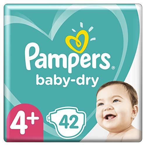 Pampers Baby-Dry Größe 4 + 42 Windeln bis 12 Stunden Schutz 10-15 kg, 2 Stück
