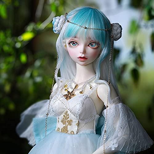Elegant Prinzessin BJD Doll 55 cm 1/3 hecho a mano, mueca de hadas del pas de cuento de hadas, mueca con articulacin esfrica, ojos y pelucas, puede reemplazarse a nias