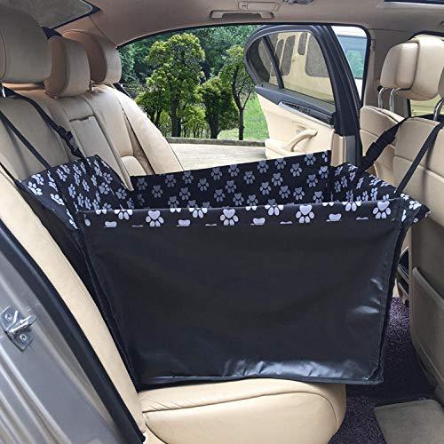 RSRA Faltbarer Haustier Rücksitzbezug Auto Hängemattenkorb Safety Car Cusion Seat Protect Mat für Hunde Cats Car Carrier Schwarzer Einzelsitz 20,8 X23,6 X13,7