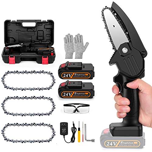 Mini Handheld Chain Saws Power Tree Branch Pruner 24V 4 Inch 2...