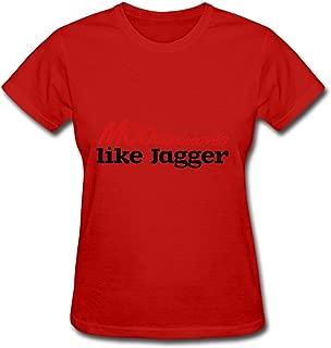 Moves Like Jagger Avengers America Red T-shirt O-neck Small For Women Designed