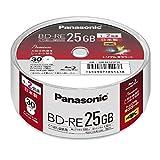 パナソニック 2倍速BRディスク片面1層25GB(書換)スピンドル30枚