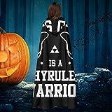 AISFGBJ - Disfraz de Bruja con Capucha de Caballero de Bruja de Halloween Unisex con diseño de la...