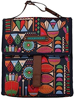 Lily Bloom Insulated Foldover Top Lunch Cooler/Tote Bag (Floral Tribal)