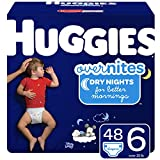 Huggies OverNites Night Time Lot de 48 couches pour bébé Taille 6