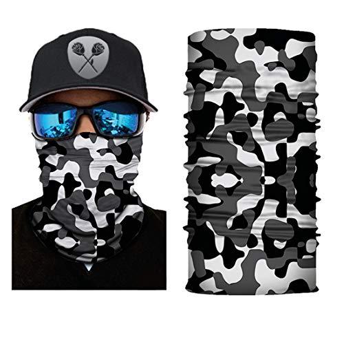 Black Roses Multifunktionstuch Herren & Damen - Wind Face Shield [Black White Camo]