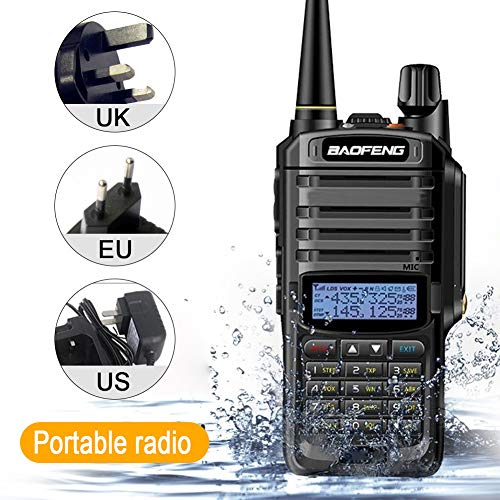 Walkie Talkies CB Radio 8W IP67 Radio CB impermeable VHF UHF Banda dual Radio bidireccional 10 km de largo alcance FM Transceptor digital por