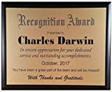 8'x10' Recognition Plaque/Award - Customized to Your Specifications - Laser Engraved (Gold 5' x 7')