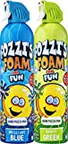 FOZZI's Bath Foam Aerosol for Kids, Brilliant Blue & Foam Groovy Green, Good Clean Fun, 600ml Each (Pack of 2)