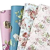 RUSPEPA Hojas De Papel Para Envolver Regalos - Boda De Diseño Floral, Cumpleaños, Día De La Madre, Felicitaciones - 8...